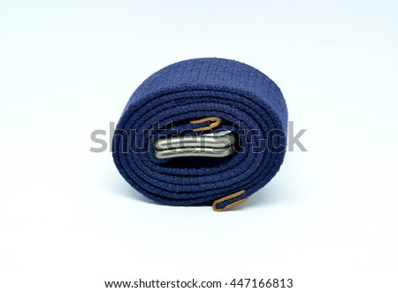 blue waistband on isolated