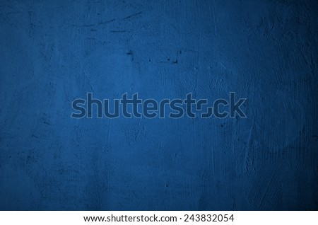 blue wall background with vignette  - stock photo