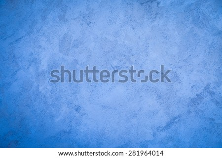 Blue wall cement paint texture background - stock photo