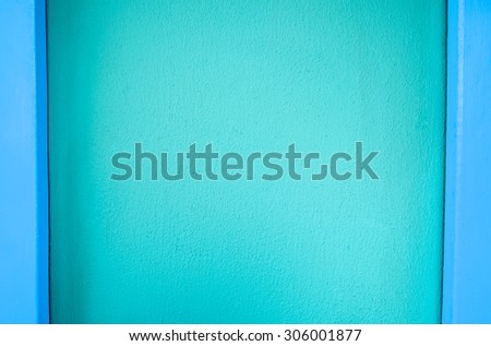 Blue wall for background or texture.