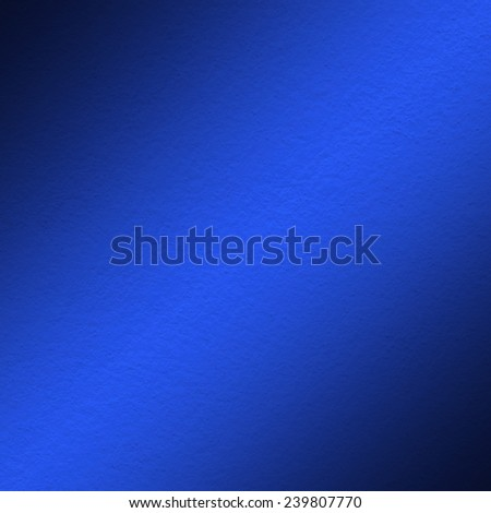 blue wall paint texture with oblique shade light - stock photo