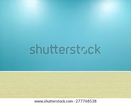 Blue wall texture for background. - stock photo