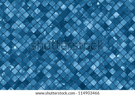 Blue wall tiles background