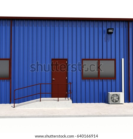 Container pallets vector illustration open container stock for Door 3d warehouse