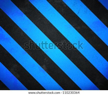 Blue Warning Stripes Background - stock photo
