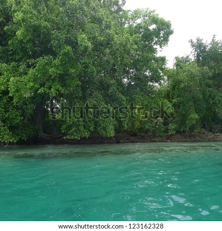 Blue Water - stock photo
