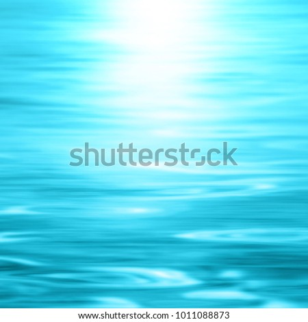 Blue water - abstract ocean background gradient - blurred sea texture