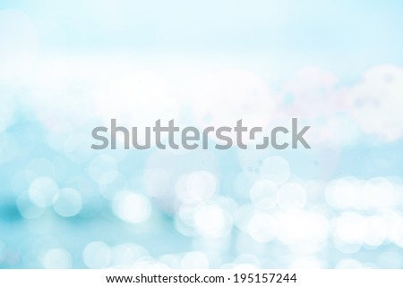 Blue water and sun reflections background - stock photo