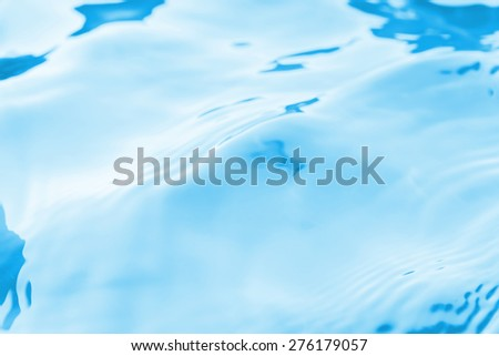 blue water and wave for background