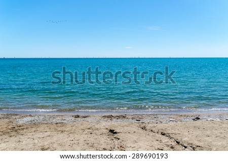 blue water beach landscape