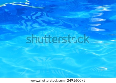 Blue Water - Color Background and Texture of Liquid - Holiday Bliss - stock photo