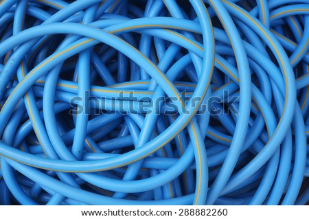blue water hose background.