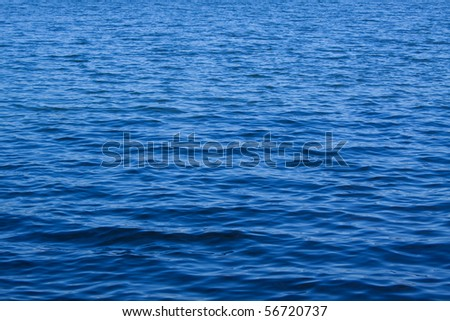 blue water of lake - stock photo