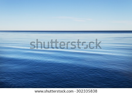 Blue water of the Baltic sea. - stock photo