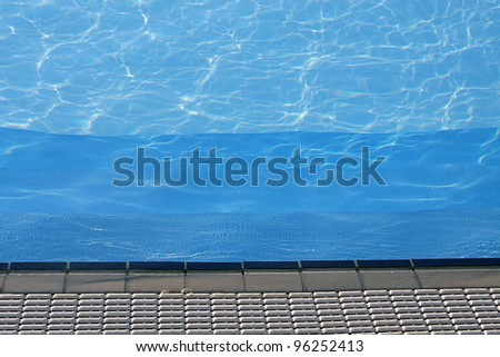 blue water of the swimming pool for swimming competitions