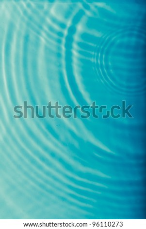 Blue water ripple wave