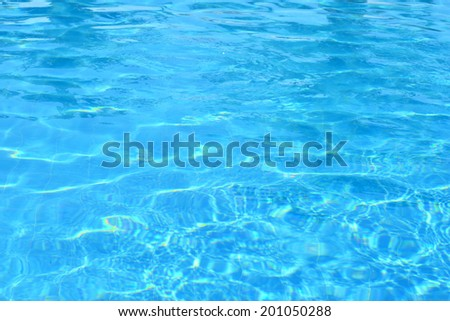 Blue Water Swimming Pool Background - stock photo