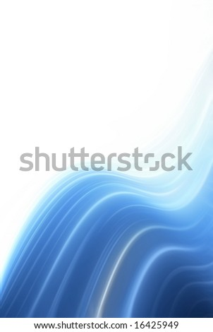 Blue water wave background with copyspace
