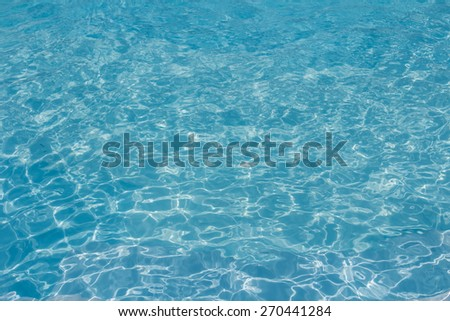 Blue water wave smooth texture background - stock photo
