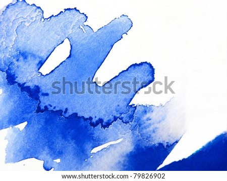 Blue Watercolor Abstract 2