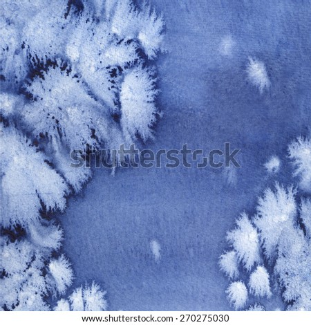 Blue watercolor abstract background - stock photo