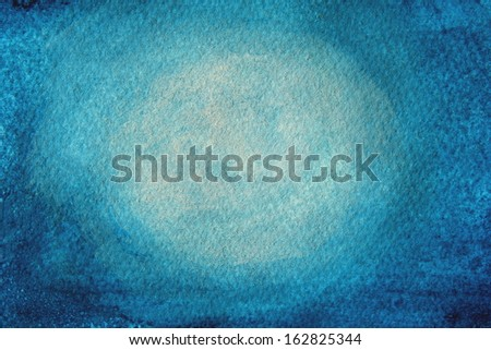 Blue Watercolor Background 1 - stock photo