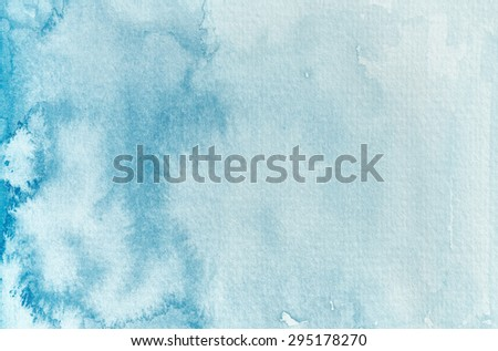 Blue watercolor background - stock photo