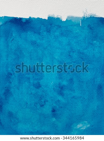 Blue watercolor for textures and background. - stock photo