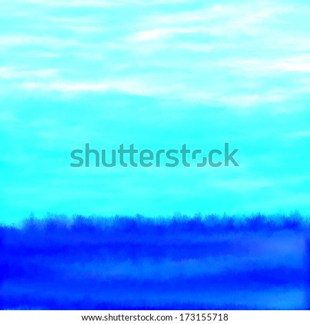 Blue Watercolor Hombre Water Background - stock photo