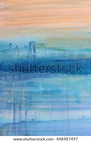 Blue Watercolor on Canvas 6