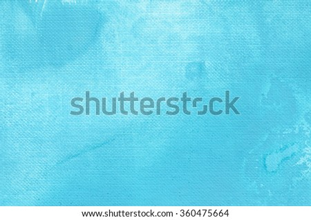 blue watercolor painting background texture - stock photo