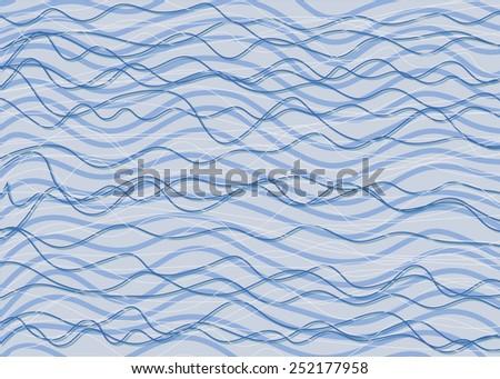 blue wave - stock photo