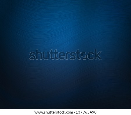 Blue Waves Lines Background - stock photo