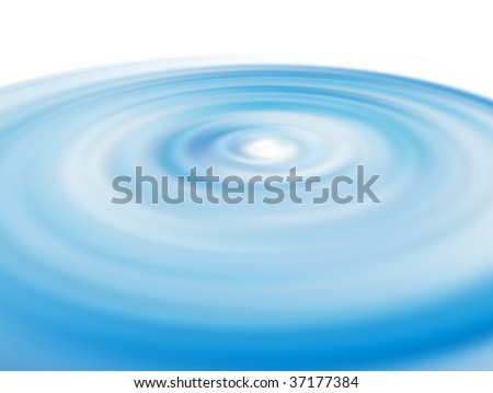 Blue waves over white background. Water illustration