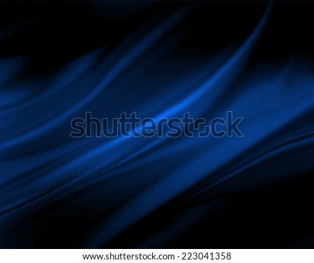 blue wavy background color splash on black background, elegant classy design - stock photo