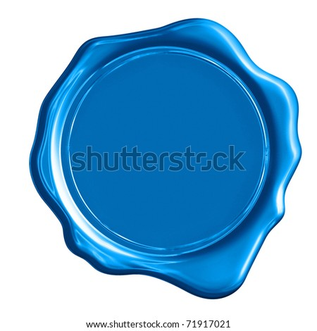 Blue wax seal Stock Photos, Images, & Pictures   Shutterstock