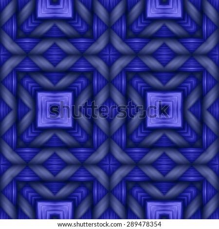 blue weaving wood  texture  ornament pattern - stock photo