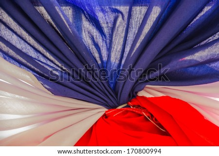 Blue white and red curtain - stock photo
