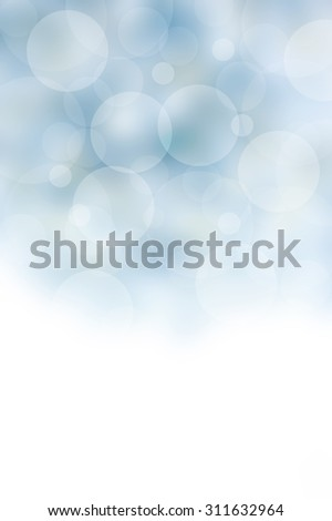 blue white bokeh fade abstract background