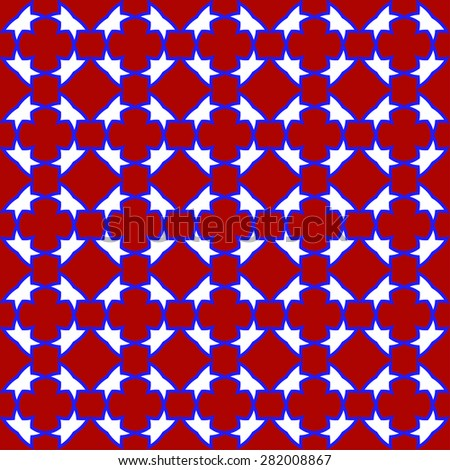 blue white  tile pattern background with square design