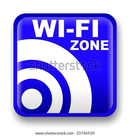 blue wi-fi internet signal to the store and bar