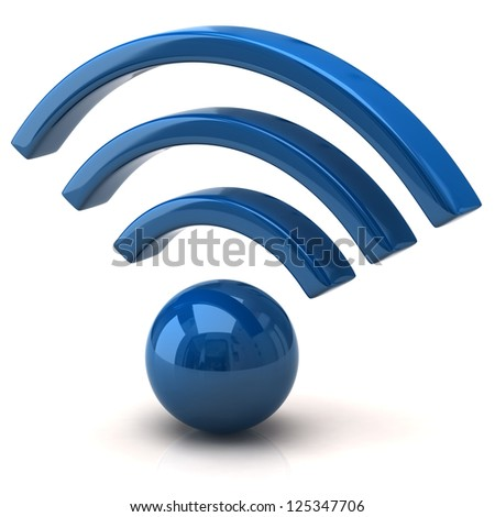 Blue wifi icon