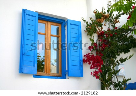 Blue window from Mykonos