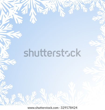 Blue winter background. Vector illustration. Christmas background.