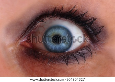 blue woman eye as nice human background