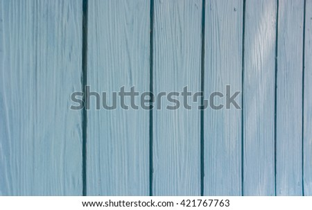 Blue wood board panel