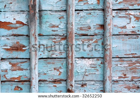 Blue wood wall