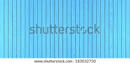 blue wood walls and floor for background  - stock photo