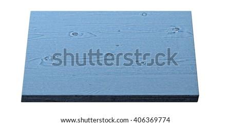 blue wooden board - 3D illustration - stock photo