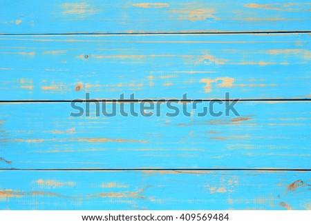 blue wooden texture. - stock photo